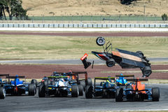 Motorsport, high speed crash Royalty Free Stock Photography