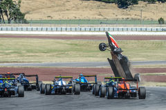 Motorsport, high speed crash Stock Image