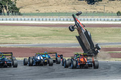 Motorsport, high speed crash Stock Photo