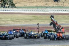Motorsport, high speed crash Royalty Free Stock Photo