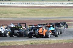 Motorsport, impacto de alta velocidade Fotos de Stock Royalty Free