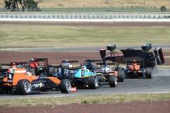 Motorsport, impacto de alta velocidade Fotos de Stock