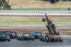 Motorsport, impacto de alta velocidade Imagem de Stock