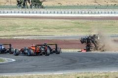 Motorsport, impacto de alta velocidade Fotografia de Stock Royalty Free