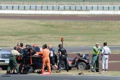 Motorsport, impacto de alta velocidade Foto de Stock Royalty Free