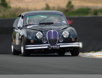 Motorsport Jaguar 1962 MkII Lizenzfreie Stockfotos