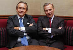 Motorsport Legend Jacky Ickx (left) and Chopard CEO Karl Friedrich Scheufele Stock Photography