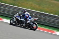 Motorsport Leon Haslam Superbike BMWs Motorrad Lizenzfreies Stockfoto