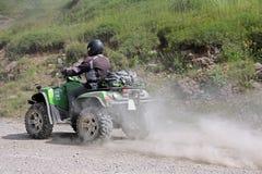 Motorsport mit dem Viererkabel Lizenzfreies Stockfoto