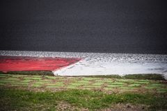 Motorsport racing track curb detail Royalty Free Stock Photography
