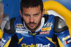 motorsport rr s1000 för bmw fabrizio michel Royaltyfri Fotografi