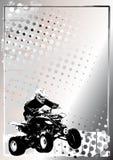 Motorsport silberner Plakathintergrund Stockfoto