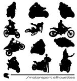 Motorsport silhouettes collection Royalty Free Stock Photography