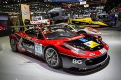 Motorsport Singha возможности Феррари 458 стоковые изображения