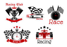 Motorsport symbols for sporting competition design Stock Photo