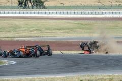 Motorsport, wysoki prędkość trzask Zdjęcia Stock