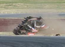 Motorsport, wysoki prędkość trzask Zdjęcie Royalty Free