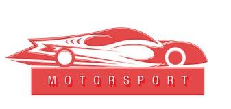 Motorsportembleem Royalty-vrije Stock Afbeeldingen