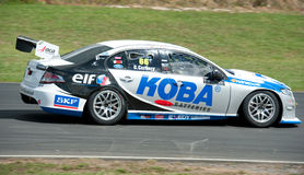 Motorsports - V8 Supertourers. Premiere race of a new racing class - V8 Supertourers - at Hampton Downs Raceway New Zealand; this series uses Chev 7 liter race Stock Image