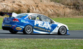 Motorsports - V8 Supertourers. Premiere race of a new racing class - V8 Supertourers - at Hampton Downs Raceway New Zealand; this series uses Chev 7 liter race Royalty Free Stock Image