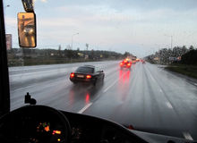 Motorväg Fotografering för Bildbyråer