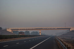 Motorväg Indien Royaltyfria Foton
