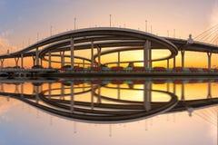 Motorväg infrastrukturen för trans. fotografering för bildbyråer