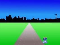 motorväg seattle Arkivfoton