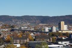 Motorvägbro i Drammen Arkivfoto