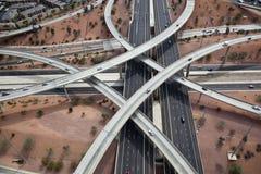 Motorvägen utbyter Arkivbilder