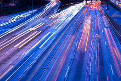 motorväghamntrafik Arkivfoton