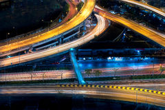 Motorväginfrastruktur för trans. arkivbilder