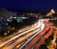 Motorvägrörelsesuddighet Royaltyfri Bild