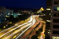 Motorvägrörelsesuddighet Fotografering för Bildbyråer