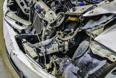 Motorvillkor inom bilen, efter olyckan uppstod arkivbilder