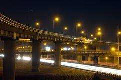 motorway över passerande royaltyfri foto