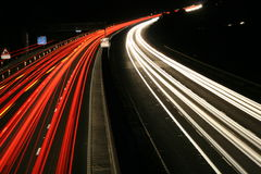 Motorway. A long exposure of the M5 motorway at night Royalty Free Stock Photos