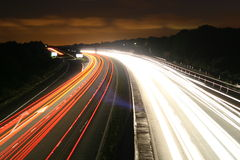 Motorway. A long exposure of the M5 motorway at night Royalty Free Stock Image
