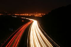 Motorway. A long exposure of the M5 motorway at night Royalty Free Stock Photo