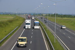 Motorway. Traffic on the A4 motorway royalty free stock photography