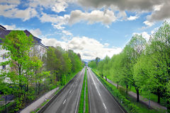 Motorway. In the Baden-Baden. Germany royalty free stock photo