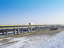 Motorway A1 bridge across the River Vistula Royalty Free Stock Image