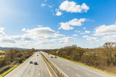 Motorway aerial view on a sunny day Stock Image