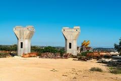 Motorway or autostrada bridge construction Stock Image