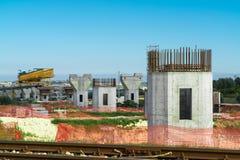 Motorway or autostrada bridge construction Royalty Free Stock Image