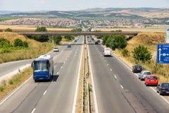 Motorway Bourgas - Sofia, Bulgaria Royalty Free Stock Image