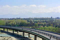 Motorway bridge Royalty Free Stock Photography