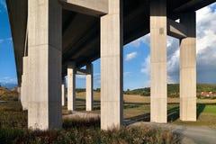 Motorway bridge landscape Royalty Free Stock Photos