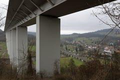 Motorway bridge near Eisenach. The motorway bridge near Eisenach stock photo