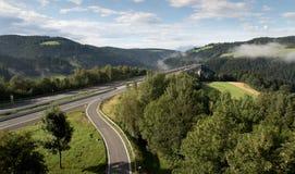 Motorway with a bridge. In south Austria between Graz and Klagenfurt stock photography